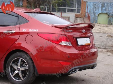 АБС-пластик Спойлер высокий Hyundai Solaris